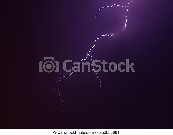 Lightning Bolts in the Sky - csp6658661