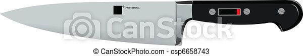 Stainless steel kitchen knife vec - csp6658743