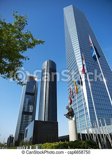 Cuatro Torres Business Area in Madrid - csp6658750