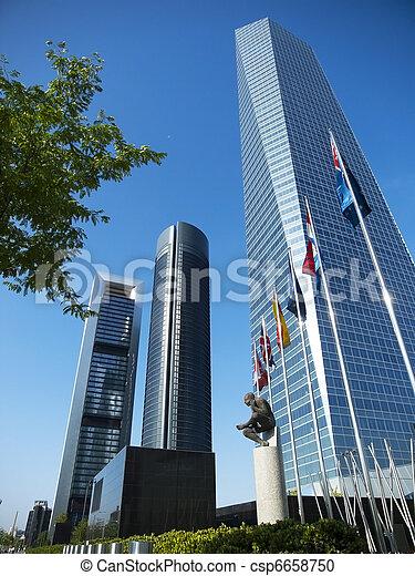 Cuatro Torres Business Area in Madrid - csp6658750