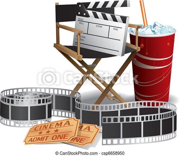 Movie director chair - csp6658950