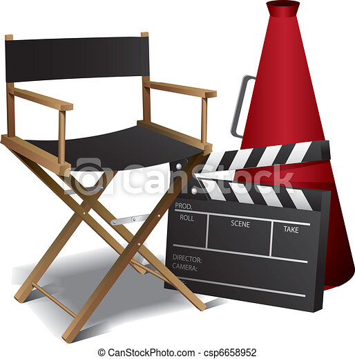 Movie director chair - csp6658952
