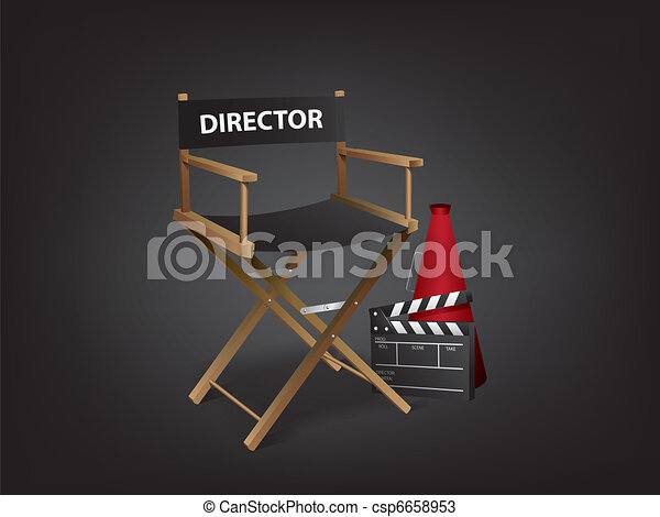 Movie director chair - csp6658953
