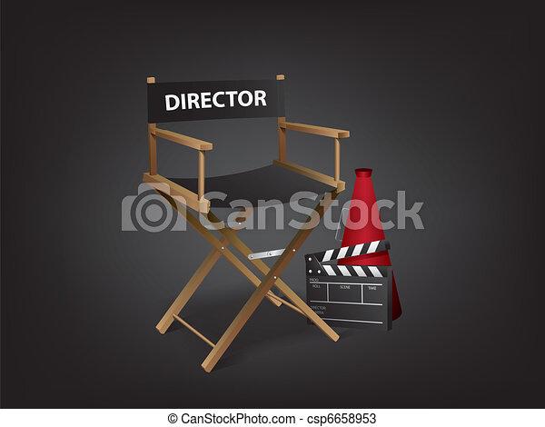 Movie director chair - csp6658953