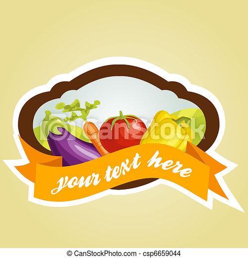 Vegetable label - csp6659044