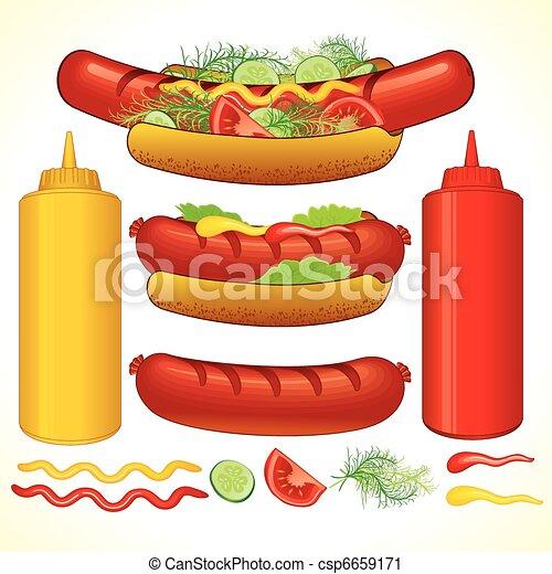 Fast Hotdog - csp6659171