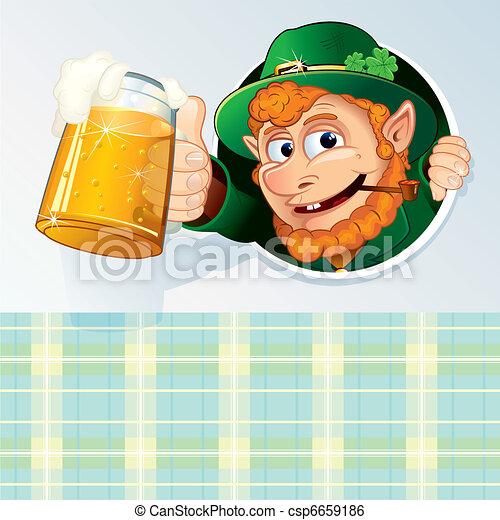 Saint Patrick Card - csp6659186