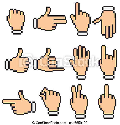 Hand Pictogram - csp6659193