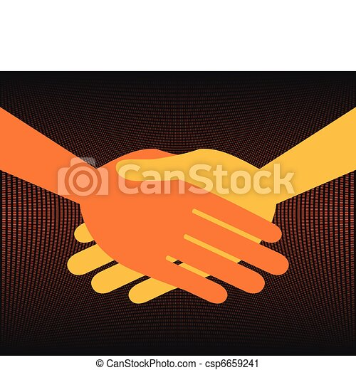 Handshake symmetry. - csp6659241