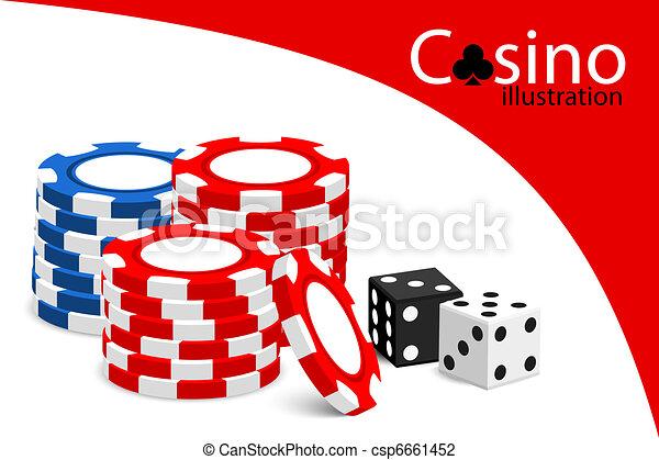 Casino illustration - csp6661452