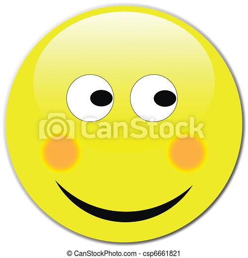 Smile button - csp6661821