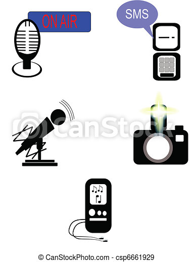 media icons with flavor - csp6661929