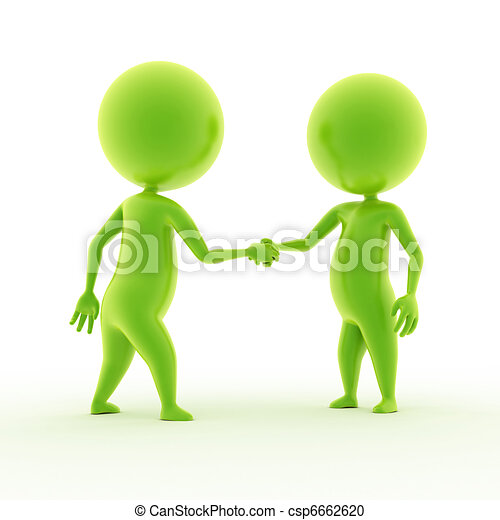 two guys shaking hands - csp6662620