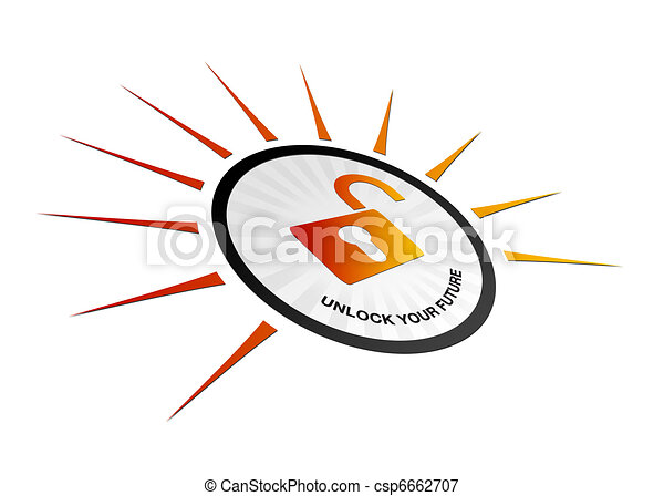 Perspective Unlock Your Future - csp6662707
