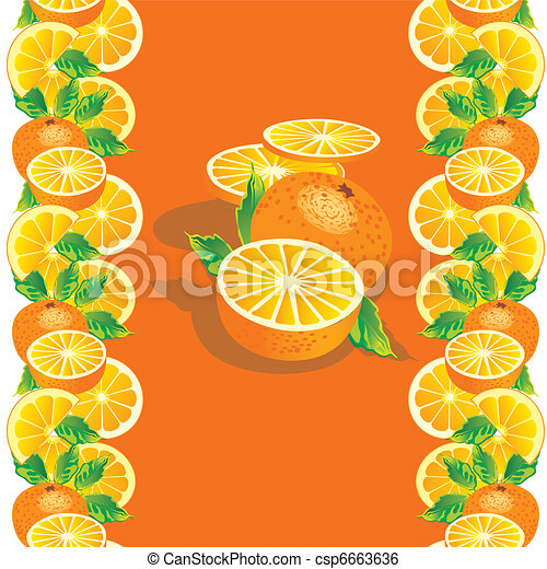 Juicy oranges. - csp6663636