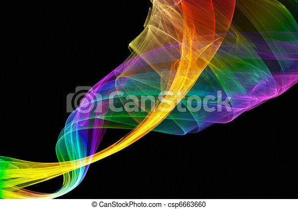 abstract multicolored formation - csp6663660