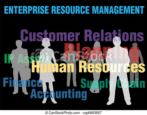 ERM Enterprise Resource Management business people - csp6663697
