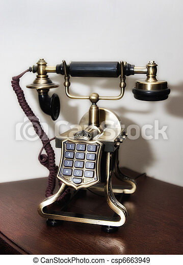Closeup of vintage telephone - csp6663949