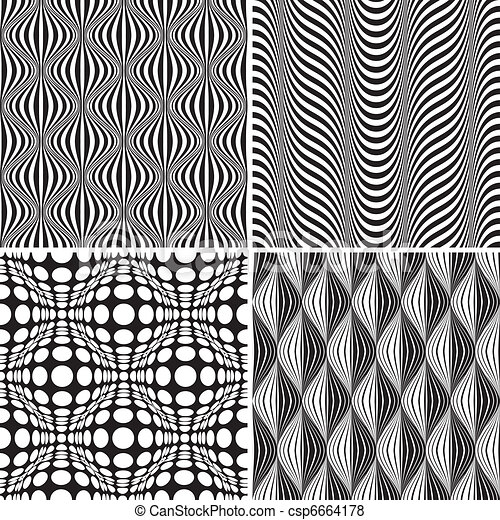 Seamless Op Art Background Pattern  - csp6664178