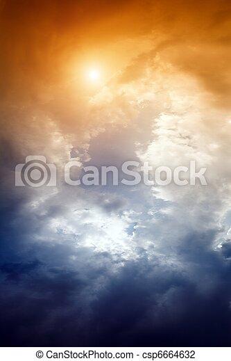 Dramatic sky - csp6664632