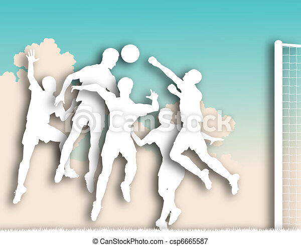 Soccer game cutout - csp6665587