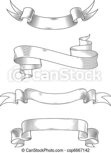 Medieval ribbons - csp6667142