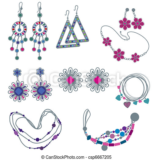 Fashion Forums Jewelry on Vector Of Vector Set Of Fashion Jewelry From My Big Vector Fashion