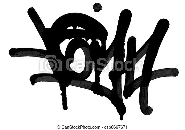 Graffitti spray paint - spraypaint vandalism grunge city urban youth - csp6667671