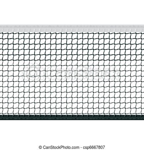 Seamless tennis net - csp6667807