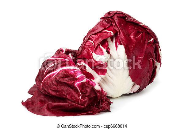 Italian Salad Radichchio Isolation - csp6668014