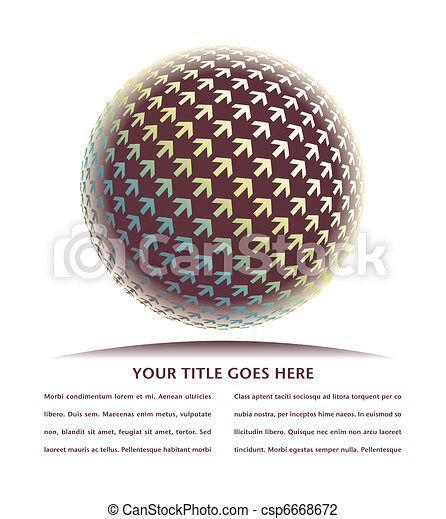 Positive digital arrow globe. - csp6668672
