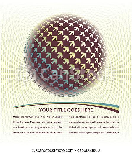 Positive digital arrow globe. - csp6668860