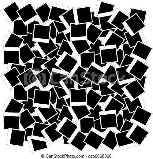clip art vektor von rahmen foto tapete hintergrund viele foto rahmen csp6668866. Black Bedroom Furniture Sets. Home Design Ideas