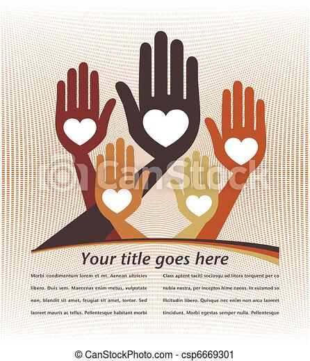 Helpful hands design. - csp6669301