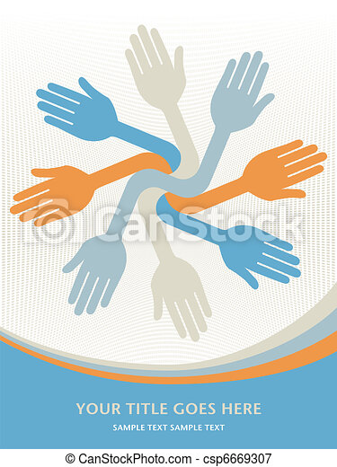 Lets work together hands. - csp6669307
