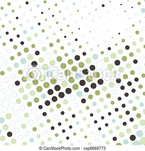abstract business background with colorful dots - csp6669773