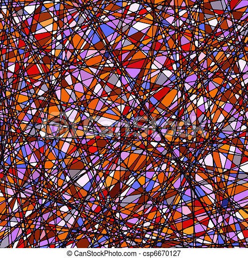 Stained glass texture in a purple tone. EPS 8 - csp6670127