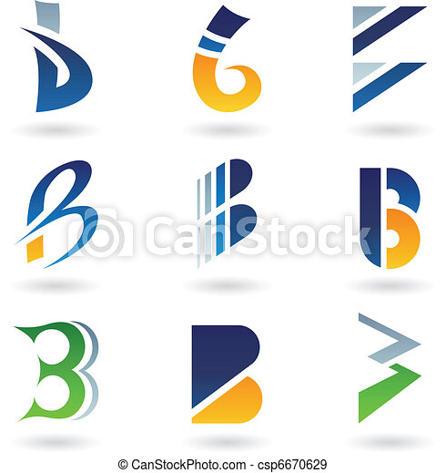 Abstract icons for letter B - csp6670629