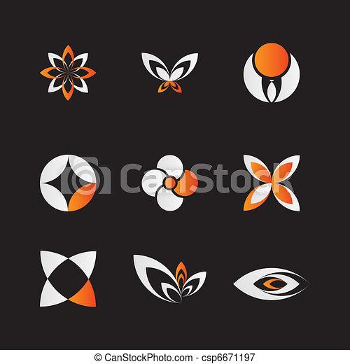 Orange Logo Set - csp6671197