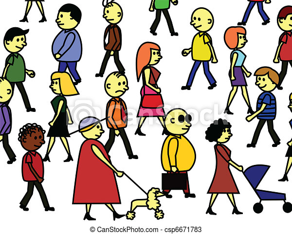 Crowd of People Clipart Peoples Crowd