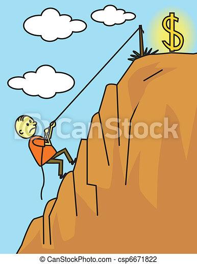 Man climbing for success - csp6671822