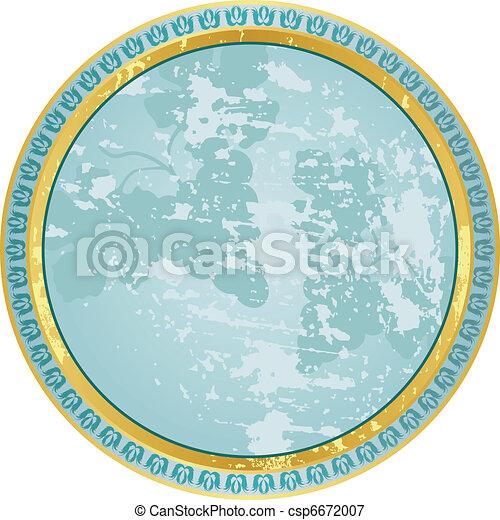 round vintage label - csp6672007