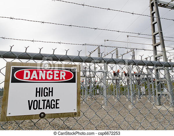 High-voltage transformer substation - csp6672253