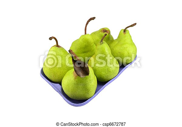 Pears in retail packaging - csp6672787