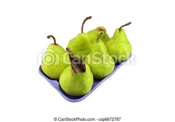 Pears in retail packaging - csp6672787