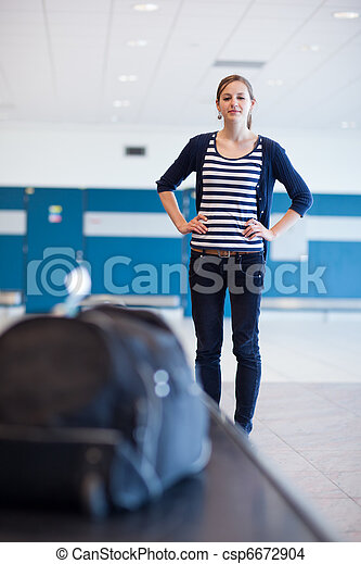 Baggage reclaim at the airport - csp6672904