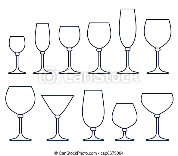 Set of glasses for alcoholic drinks - csp6673004