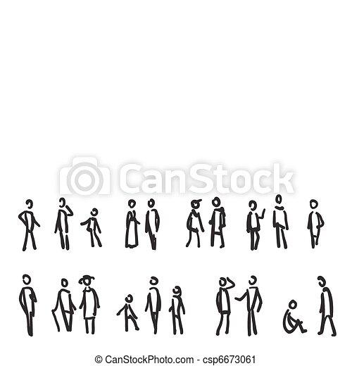 People sketch - csp6673061