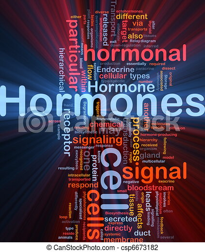 Hormones hormonal background concept glowing - csp6673182