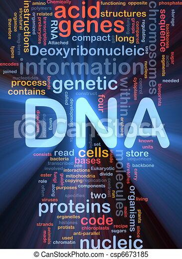 DNA genetic background concept glowing - csp6673185